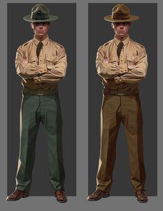 ArtStation - Military Characters, Denis Lakhanov Character Concept, Character Art, Concept Art, Military Drawings, Figure Drawing Reference, Cg Art, Drawing Clothes, Character Design References, Cthulhu