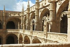 Jeronimos Monastery - view form the inside central court ... Lisbon, Portugal