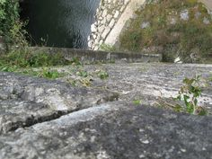 Looking down from the bridge across River Blackwater, Lismore, Ireland