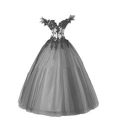 Kivary Women's White and Black Gothic Wedding Dresses Ball Gown US 2... (225 AUD) ❤ liked on Polyvore featuring dresses, gowns, holiday dresses, special occasion dresses, gothic lolita dress, black white dress and black white lace dress