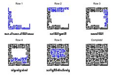 Building of the Kufic block Arabic litters cross stitch Arabic Calligraphy Art, Arabic Art, Islamic Art Pattern, Pattern Art, Typography Fonts, Lettering, Tumblr, Design Reference, Building