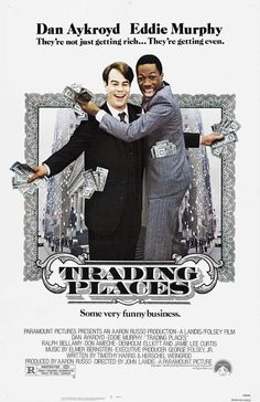 Directed by John Landis. With Eddie Murphy, Dan Aykroyd, Ralph Bellamy, Don Ameche. A snobbish investor and a wily street con artist find their positions reversed as part of a bet by two callous millionaires. 80s Movie Posters, Classic Movie Posters, 80s Movies, Great Movies, Movies To Watch, Awesome Movies, Cinema Movies, Love Movie, Movie Tv