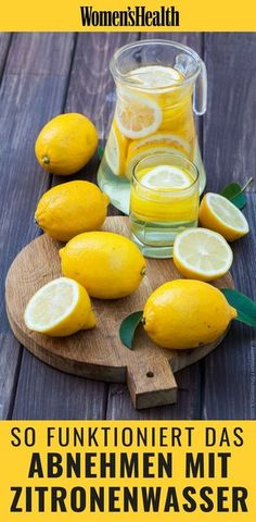 Abnehmen kann so einfach sein, wenn man weiß wie's geht: Wir verraten Ihnen… Losing weight can be so easy when you know how it's done: We'll tell you how to kill extra kilos with lemon and ginger water, plus 8 more slim tips Weight Loss Detox, Lose Weight, Water Weight, Ginger Detox Water, Detox Recipes, Healthy Recipes, Juice Recipes, Lemon Diet, Health Cleanse