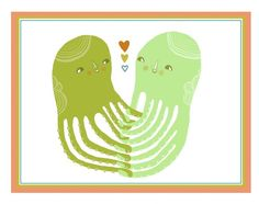 """Holding Hands by laurageorge: 5 x 7"""" , $15 #Illustration #Octopus #laurageorge"""