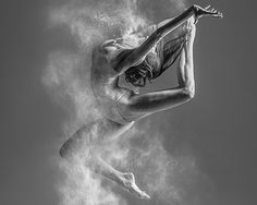 alexander yakovlev bathes ballet bodies in exploding flour dust