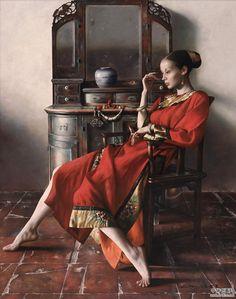 Chinese Painting Lu Jian Jun