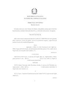 Studio Legale Buonomo - Diritto Previdenziale ed Assistenziale: Ammissibilita'…