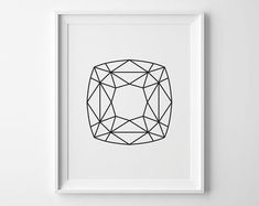 Geometric Square Print Modern Bedroom Decor by SweetPeonyPress