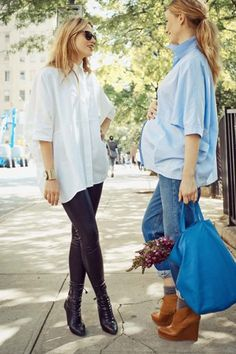 The Button Up Photo: Via Hatch #refinery29 http://www.refinery29.com/fashionable-maternity-clothing-hatch#slide-5