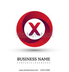 X letter logo in the red circle. Vector design template elements for your application or company identity. - stock vector