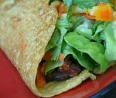 Spicy Black Beans in a Chickpea Wrap by Plant Based Munchies Vegan Mexican Recipes, Raw Food Recipes, Cooking Recipes, Healthy Recipes, Nutrition Meal Plan, Nutrition Activities, Sushi, Quesadillas, Watermelon Nutrition Facts