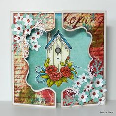 Beccy's Place: Tutorial: Gatefold Window Card  These beautiful cards are wonderful for so many occasions and with the large range of dies on the market you are only restricted by your imagination!  Although they aren't quick and easy to make, the end result definitely makes the effort worthwhile.