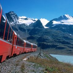The Bernina Express in Switzerland.