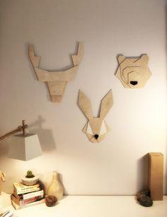 Geometric bear head by ValuShop on Etsy