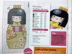 Yuda Stitch - Cross Stitch Malaysia: Kokeshi Doll Chart