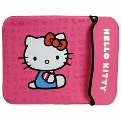 The Hello Kitty Neoprene Sleeve is designed to cushion and protect a netbook with a screen up to 12. The neoprene material cushions the computer and protects it from dents and scratches. It is available in three colors (black, red, and pink) and four sizes (10.2, 12, 14 and 16 ).'