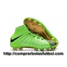 best sneakers 396ce f0ea9 Baratas Botas De Futbol Nike Hypervenom Phantom III DF EA Sports FG Verde  Negro Dorado