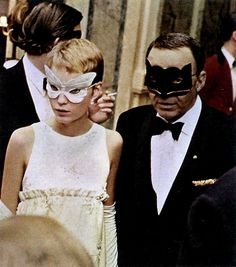 Mia Farrow and Frank Sinatra at Truman Capote's Black and White Ball at the Plaza Hotel, New York, 1966.    Party idea for my 20th? Hmmmmm…