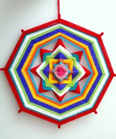 Yarn mandalas. Tutorial