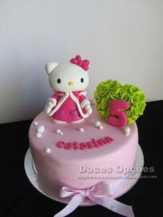 Doces Opções: Bolo de aniversário com a Hello Kitty