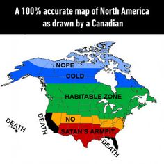 North America by an Canadian Memes Humor, Funny Jokes, Hilarious, Funniest Memes, America Funny, America Memes, Funny Cute, The Funny, Canada Funny