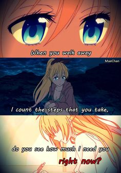 Song: When you\'re gone by Avril Lavigne  Anime: Nisekoi