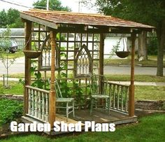 A gazebo may give a grand appearance to your backyard. In addition, this kind of DIY patio isn't overly hard to finish. Building a little backyard patio by employing simple patio design ideas is quite a bit easier than you… Continue Reading → Porch Garden, Garden Junk, Garden Landscaping, Porch Gazebo, Diy Gazebo, Porch Swings, Garden Kids, Garden Gazebo, Diy Porch