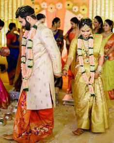 Bookmark These Dashing Looks Of South Indian Grooms That Stole The Show. For more such groom inspirations, stay tuned with shaadiwish. Indian Men Fashion, Indian Bridal Fashion, Groom Fashion, South Indian Weddings, South Indian Bride, Couple Wedding Dress, Wedding Couples, Wedding Men, Farm Wedding