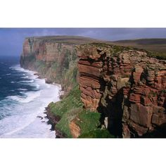 Scotland Image - Old Red Sandstone Cliffs, Scotland - Lonely Planet ❤ liked on Polyvore