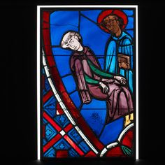 Vision of Saint Germain of Paris Date: 1245–47 Geography: Made in Paris, France Culture: French Medium: Pot-metal glass, vitreous paint Dimensions: Overall: 25 1/8 x 15 3/4 in. (63.8 x 40 cm)