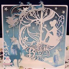 Handmade festive fairy card with 'Believe' sentiment by Glitzycards on Etsy Fall Cards, Holiday Cards, Christmas Cards, All Things Christmas, Christmas Fun, Tonic Cards, Studio Cards, Card Tricks, Create And Craft