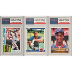 Darryl Strawberry New York Mets 3 Card Rookie Lot - $29.99