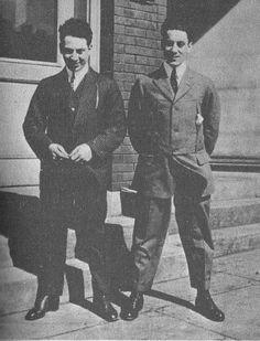 A young Harpo (left) and Groucho Marx