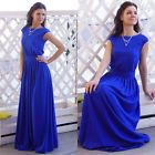 Women Sexy Wedding Maxi Blue Formal Dress Tunic Clubwear Party Summer Size XL