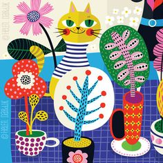 Love Makes Things Grow... - limited edition giclee print of an original illustration (8 x 10 in)