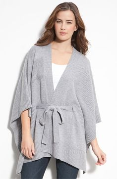 McDuff Belted Cape Cardigan | Nordstrom - StyleSays