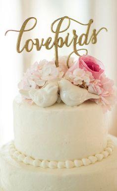 Love Birds Cake topper Lovebirds Cake by PSWeddingsandEvents