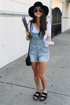 Birkenstocks outfit overalls