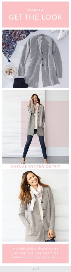 d6da1499639 The perfect casual winter layer (featuring J.Jill s Meredith Boiled Merino  Jacket).
