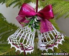 Рождественские ангелы и колокольчики крючком. » Женский Мир