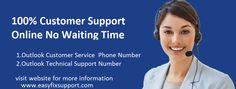 Outlook Customer Service give solution for all those technical issues those occurred in outlook email .there are many technical issues like outlook mail not working ,email not send ,POP protocol problem ,password recovery problem,FTP protocol problem and many other primary technical issues .so Outlook Customer Service and Support Team always give Technical Support when any customer contact our team.if you need help for your outlook mail call our toll free number. website…