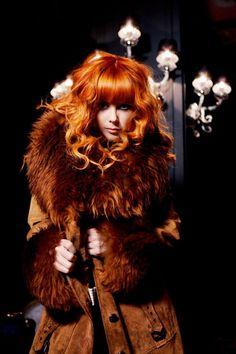 redhead-in-fur-top