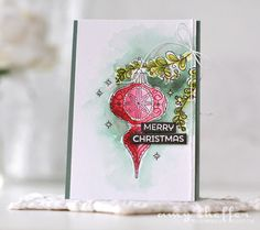 Welcome to Day 5 of Papertrey Ink 's September holiday release countdown. Today we are featuring two beautiful ornament stamp set...