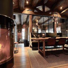 Bilderesultat for laftekompaniet Cabin Interiors, Dere, Dining Room, Cottage, Rustic, Interior Design, Architecture, Furniture, Instagram