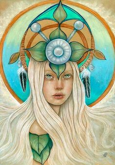 The Queen of Elphame- Original drawing by Tammy Mae Moon. Done in September of 2014 and features the Scottish fairy queen the Queen of Elphame. She