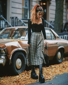 Edgy Outfits, Grunge Outfits, Cute Casual Outfits, Fashion Outfits, Alternative Outfits, Alternative Fashion, Fall Winter Outfits, Autumn Winter Fashion, Dark Fashion
