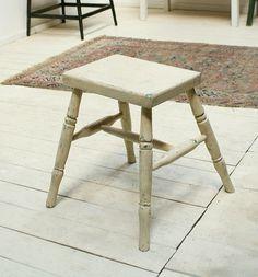 Chair イギリスアンティークペイントスツール椅子シャビー899 インテリア 雑貨 家具 Antique ¥14000yen 〆10月25日