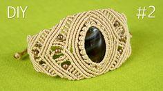 Part 2 - How to make a Macrame Bracelet (Cabochon) with Wrapped Stone #Howto #Make #Cabochon #Bracelet #Stone