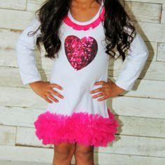 Sequin heart - valentine's day dress