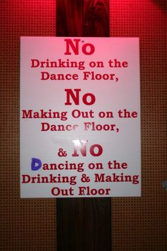 What about Making Out on the Drinking Floor?